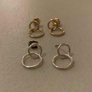 Bundle of Double Circle Earrings